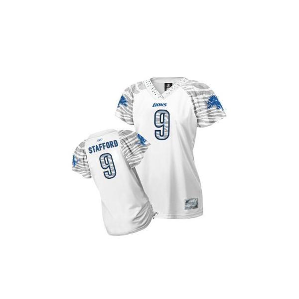 detailed look 56923 b85b8 [Zebra Field Flirt]Detroit #9 Matthew Stafford womens jersey Free shipping