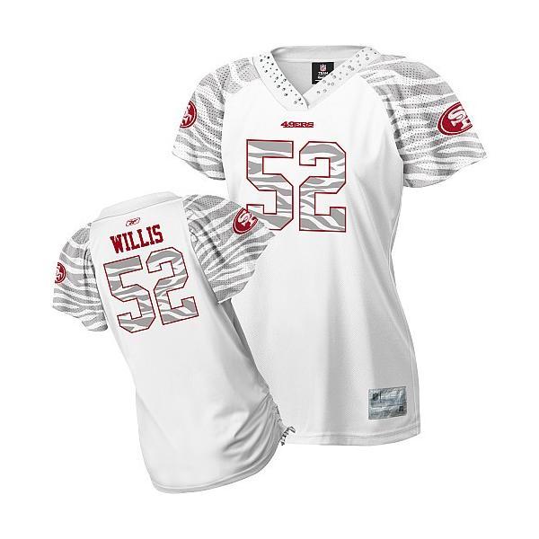 new arrival f1da3 f4963 [Zebra Field Flirt]SF #52 Patrick Willis womens jersey Free shipping