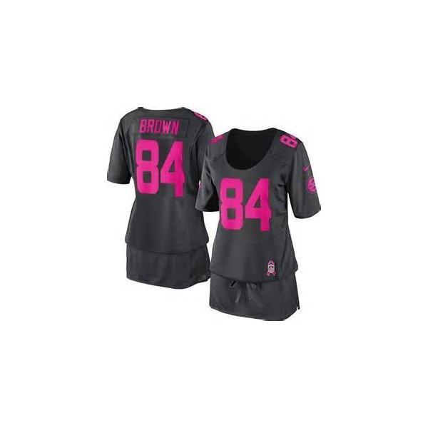 size 40 6854f f237e [BCA DRESS]Pittsburgh #84 Antonio Brown womens jersey Free shipping