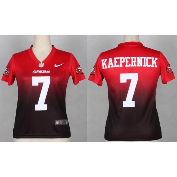 wholesale dealer a47e2 8e0b4 [Drift Fashion]SF #7 Colin Kaepernick womens jersey Free shipping