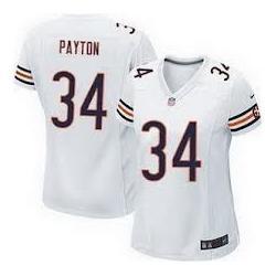meet 1c899 c2263 [Game] PAYTON Chicago #34 Womens Football Jersey - Walter Payton Womens  Football Jersey (White)_Free Shipping