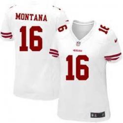 pretty nice 35a7c f7b01 [Game] MONTANA SF #16 Womens Football Jersey - Joe Montana Womens Football  Jersey (White)_Free Shipping