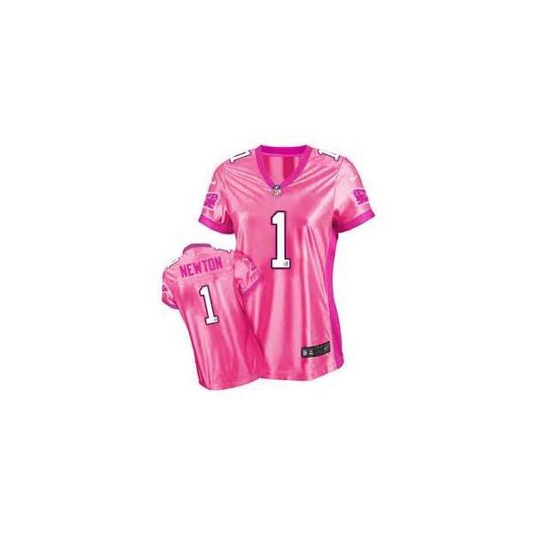 Love pink III  NEWTON Carolina  1 Womens Football Jersey - Cam Newton  Womens db786cfcd3