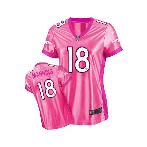 [Love pink III]Denver #18 Peyton Manning womens jersey Free ...