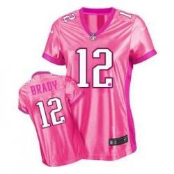 Love pink III]New England #12 Tom Brady womens jersey Free shipping