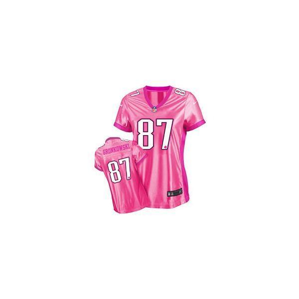 save off aa734 f5261 [Love pink III]New England #87 Rob Gronkowski womens jersey Free shipping