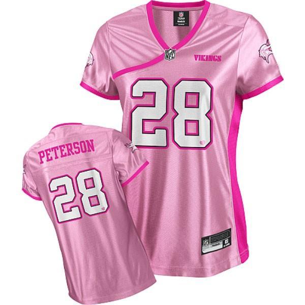 [Love pink]Minnesota #28 Adrian Peterson womens jersey Free ...