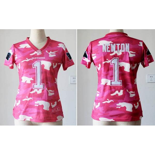 Pink Camo  NEWTON Carolina  1 Womens Football Jersey - Cam Newton Womens  Football d8ef6b5c5b