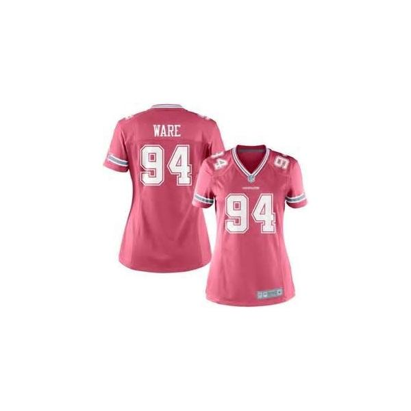 buy popular f492d 2a64e [Pink Game]Dallas #94 DeMarcus Ware womens jersey Free shipping