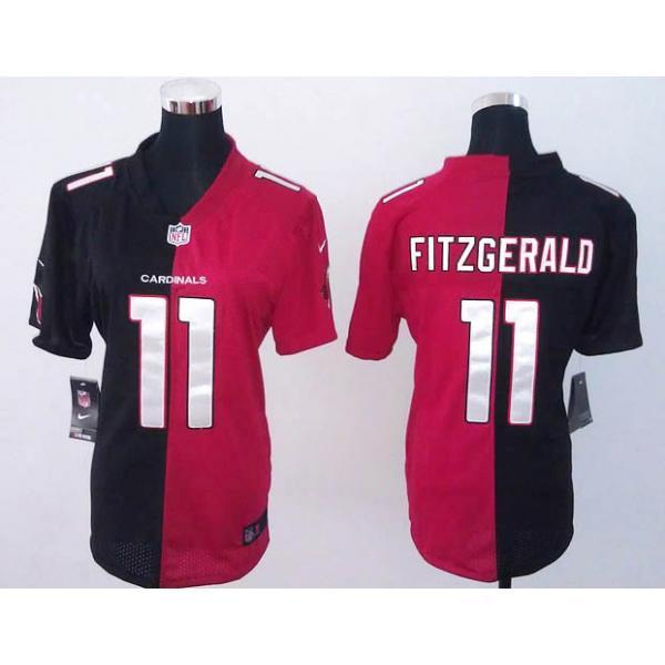 finest selection cbb69 1be90 [Split]Arizona #11 Larry Fitzgerald womens jersey Free shipping