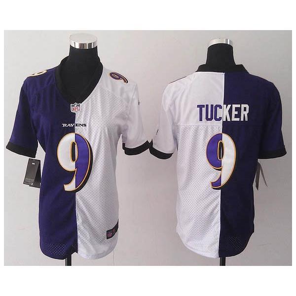 e1ac1a8a [Split] TUCKER Baltimore #9 Womens Football Jersey - Justin Tucker Womens  Football Jersey