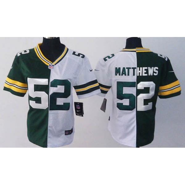 [Split]Green Bay #52 Clay Matthews womens jersey Free shipping