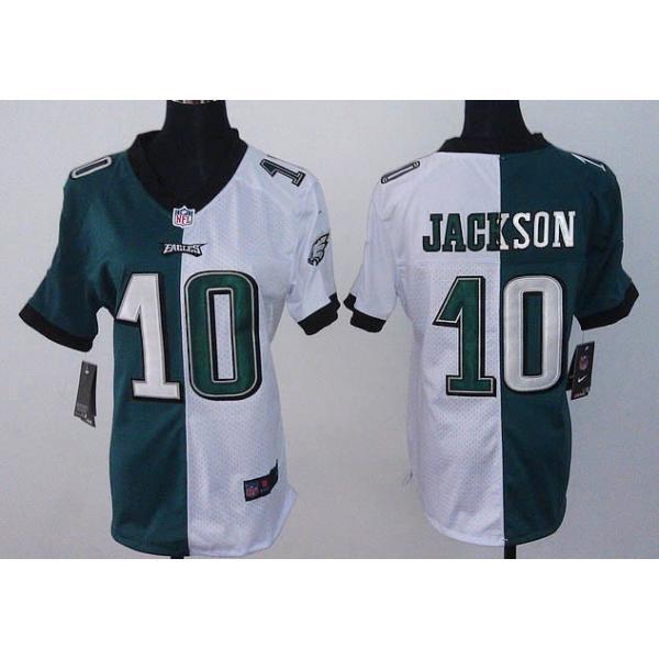 lowest price e02c1 48886 [Split]Philadelphia #10 DeSean Jackson womens jersey Free shipping
