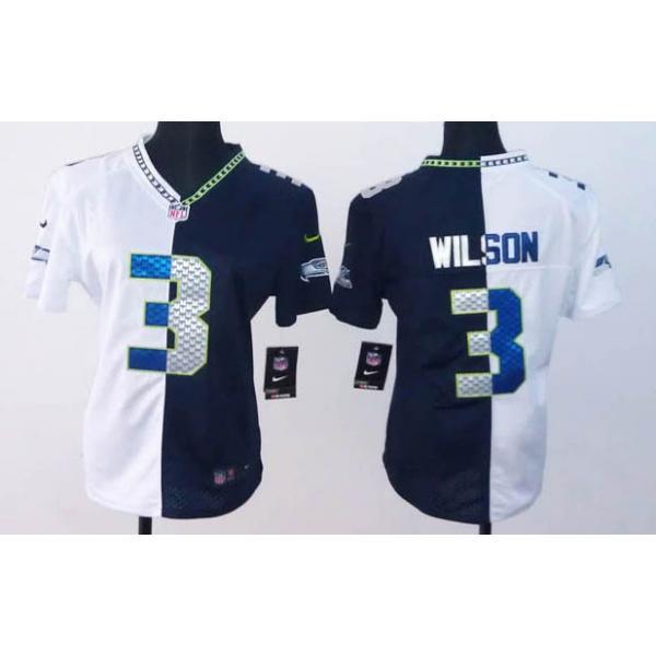 size 40 3fba1 d0d01 [Split]Seattle #3 Russell Wilson womens jersey Free shipping