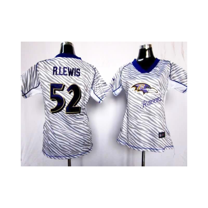 [Zebra Fashion]Baltimore #52 Ray Lewis womens jersey Free ...