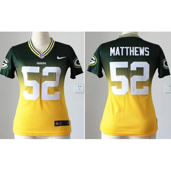 huge selection of e80bd 386f4 [Drift Fashion]Green Bay #52 Clay Matthews womens jersey Free shipping
