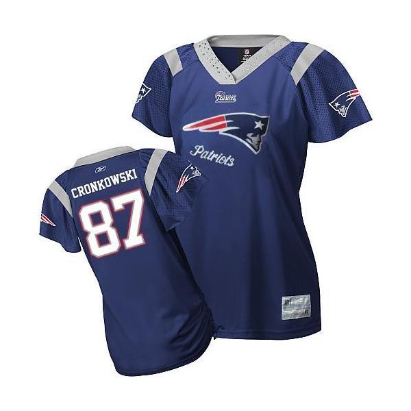 new arrival f6b2e b9856 [Field Flirt Fashion II]New England #87 Rob Gronkowski womens jersey Free  shipping
