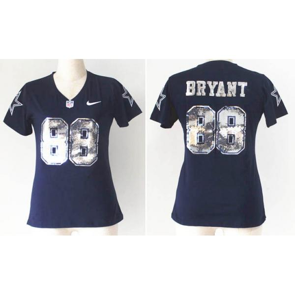 quality design 4268f c62ba [Handwork Sequin Lettering Fashion]Dallas #88 Dez Bryant womens jersey Free  shipping