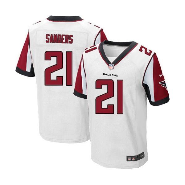 watch 393e1 bb581 [Elite]Deion Sanders Atlanta Football Team Jersey(White)_Free Shipping