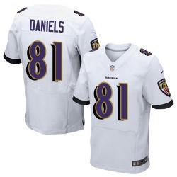 Elite]Owen Daniels Baltimore Football Team Jersey(White)_Free Shipping