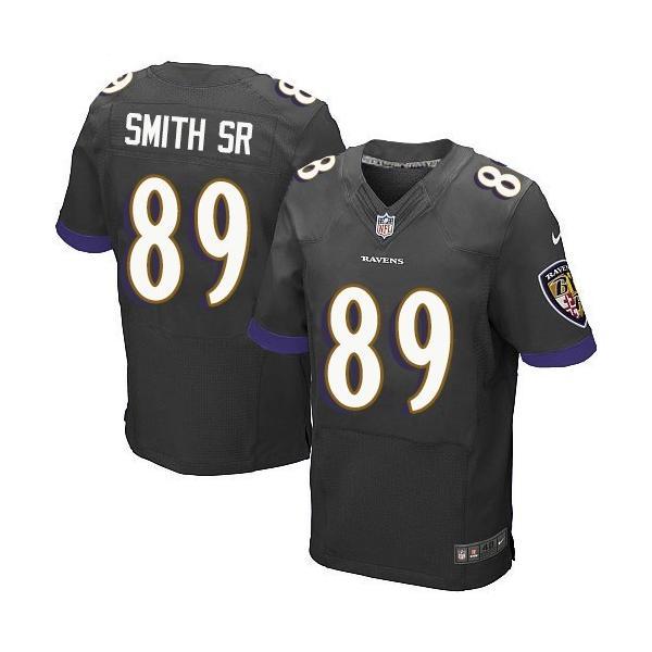 [Elite]Steve Smith SR Baltimore Football Team Jersey(Black)_Free ...