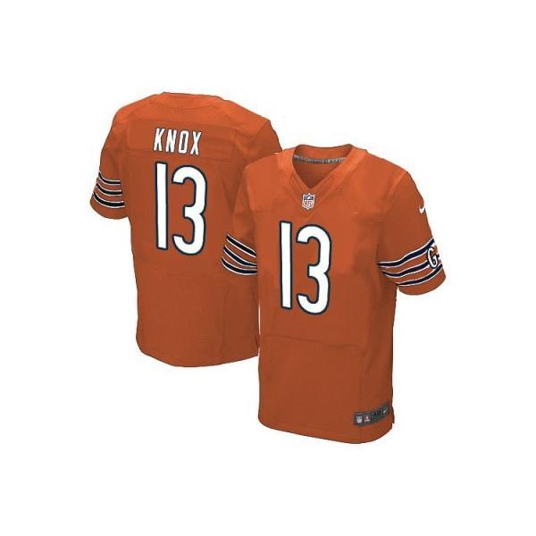 [Elite]Johnny Knox Chicago Football Team Jersey(Orange)_Free ...