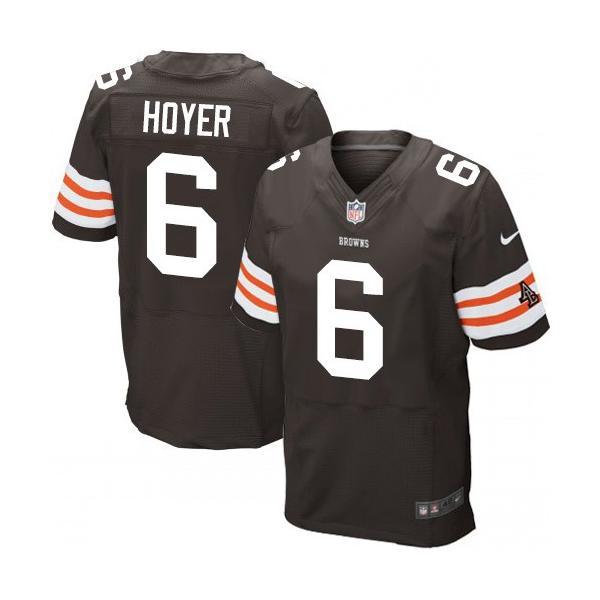 [Elite]Brian Hoyer Cleveland Football Team Jersey(Brown)_Free ...