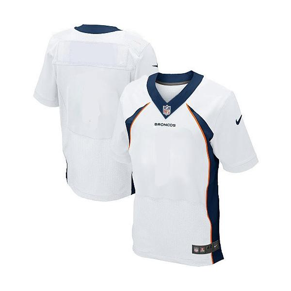 buy online aa603 1a1ee [Elite]Denver Football Team Jersey(Blank, White)_Free Shipping