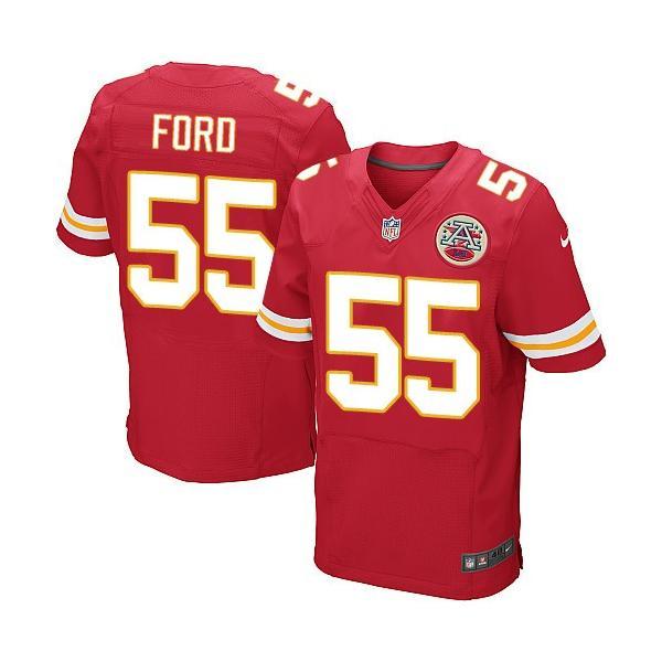 [Elite]Dee Ford Kansas City Football Team Jersey(Red)_Free ...