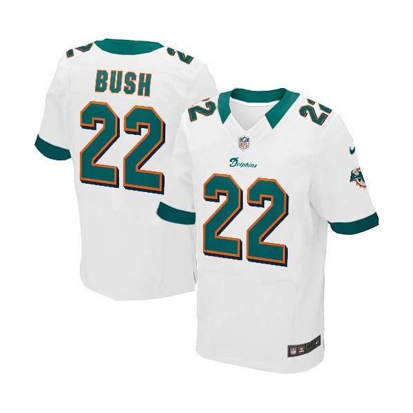 [Elite]Reggie Bush Miami Football Team Jersey(White)_Free Shipping